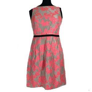LOFT Sz 4 Neon Pink Dress Shift Dress, Party Dress